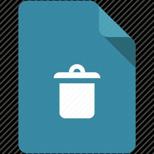 bin, clean, delete, document, empty, remove, trash icon