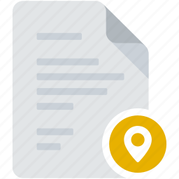address, destination, document, location, map, road, tag icon
