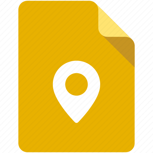 address, contacts, document, location, map, road, tag icon