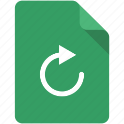 again, arrow, document, reload, repeat, replay, sync icon