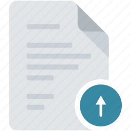 arrow, direction, document, load, previous, up, upload icon