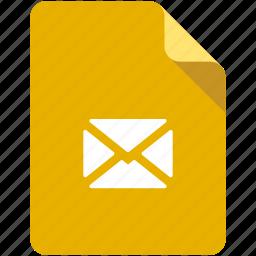 attach, attachment, document, file, letter, mail, save icon