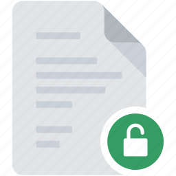 document, lock, protected, safe, unlock, unprotected, unsafe icon