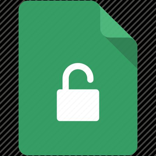 access, document, lock, locked, protection, unlock, unlocked icon