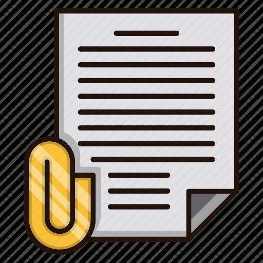 attachment, document, files, office, pin icon