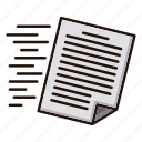 document, files, flow, office, send, speed icon
