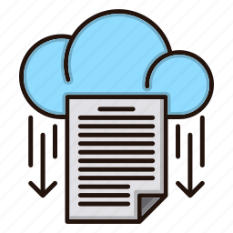 data, document, download, files, office, online icon