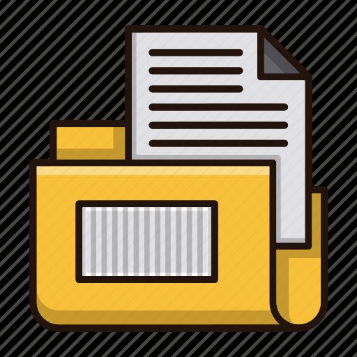 document, files, folder, office, storage icon