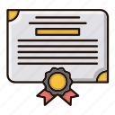 diploma, document, legal, office icon