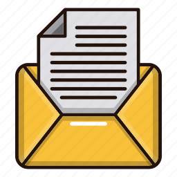 document, files, mail, message, office icon