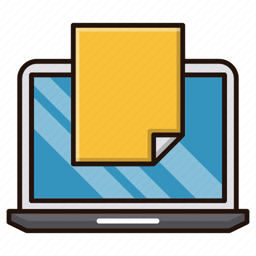 computer, document, files, internet, new, office, online icon