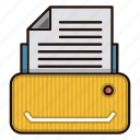 document, files, machine, office, printer icon