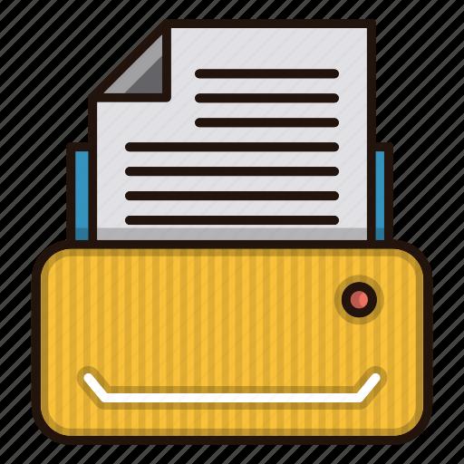 document, files, machine, office, printer icon