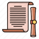 document, files, office, scroll icon