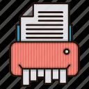 document, files, office, shredder, trash