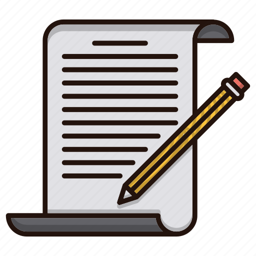 blogging, document, files, office, writing icon