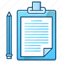 checklist, clipboard, document, note, office, paper icon