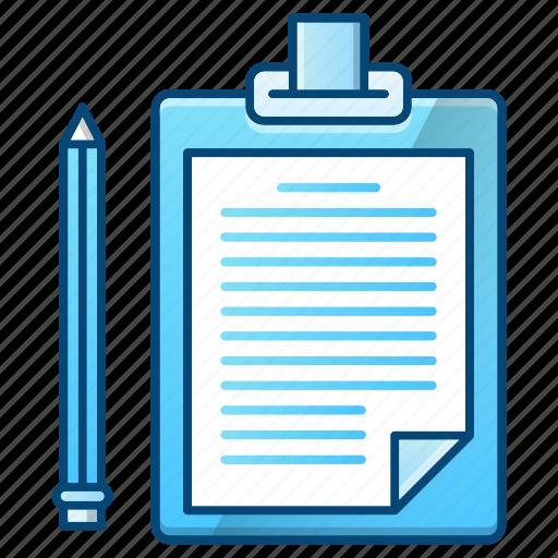 checklist, clipboard, document, note, office, paper icon