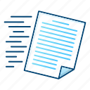 document, file, flow, office, paper icon