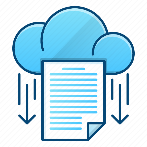 data, document, download, office, storage icon