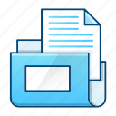 archive, document, folder, office, storage icon