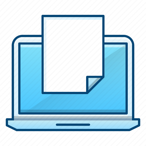 computer, document, education, new, office, online icon