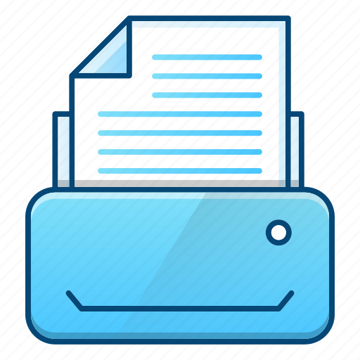 device, document, office, printer, printing, technology icon