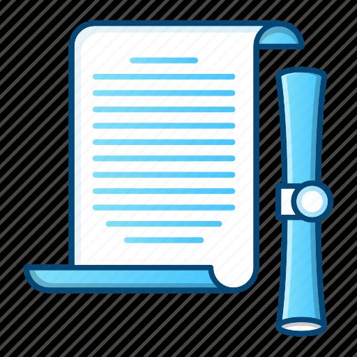 document, office, paper, scroll, swipe icon