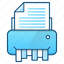 destroy, device, document, office, printer, shredder icon