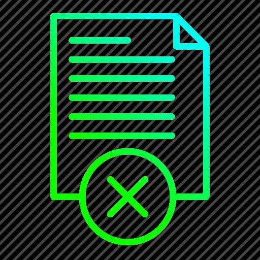 data, document, office, refuse, sheet icon