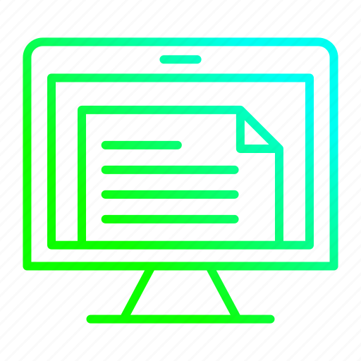 data, document, file, online, treatment icon