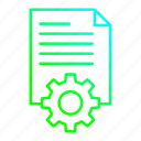 data, document, file, processing icon