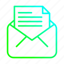 document, email, envelope, mail icon