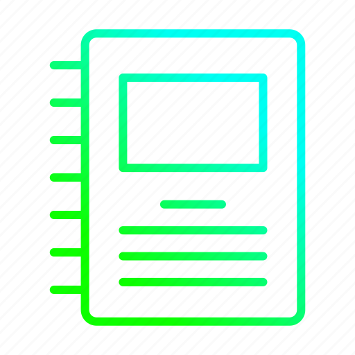 document, note, notepad, sheet icon