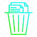 document, garbage, recycle, remove, trash icon