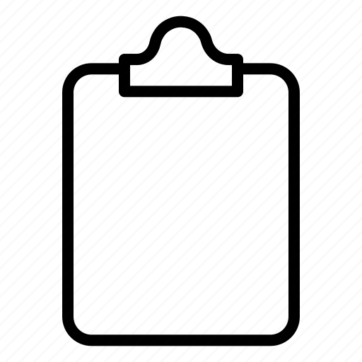 clipboard, document, file, page, paper icon