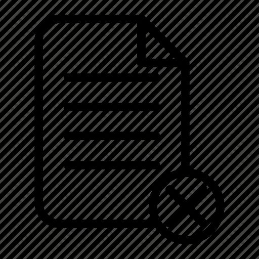 delete, document, file, page, paper icon