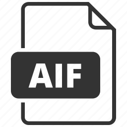 aif, audio, file format icon