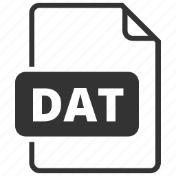 dat, database, file format icon