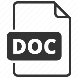 doc, file format, text, word icon