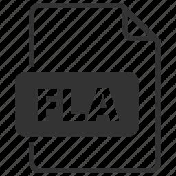 file format, fla, flash icon