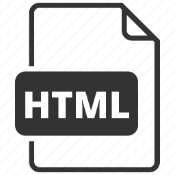 file format, html, hypertext markup language icon
