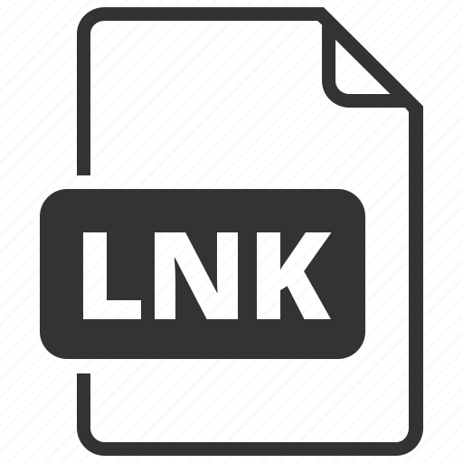 extension, file format, link, lnk icon