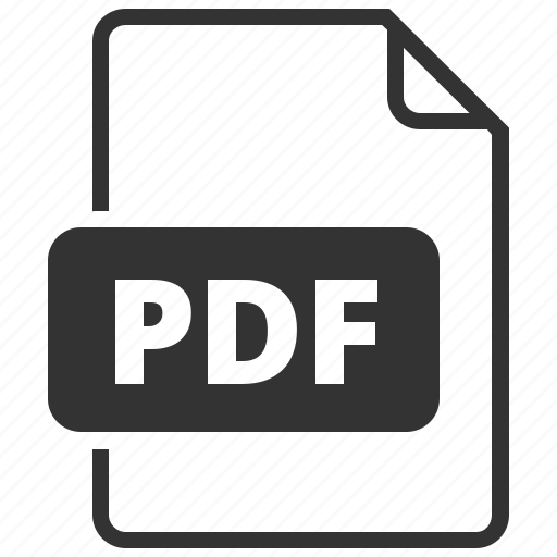 file format, pdf, portable document format icon