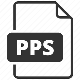 file format, powerpoint, pps icon