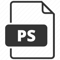 file format, photoscript, ps icon