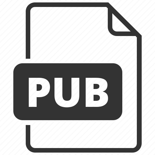 file format, pub, publisher icon