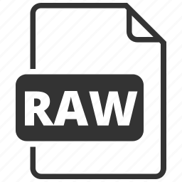 file format, filename, image, raw, raw image icon