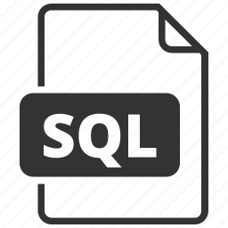 database, file format, sql, structured query language icon