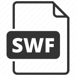 file, file format, flash, small web format, swf icon